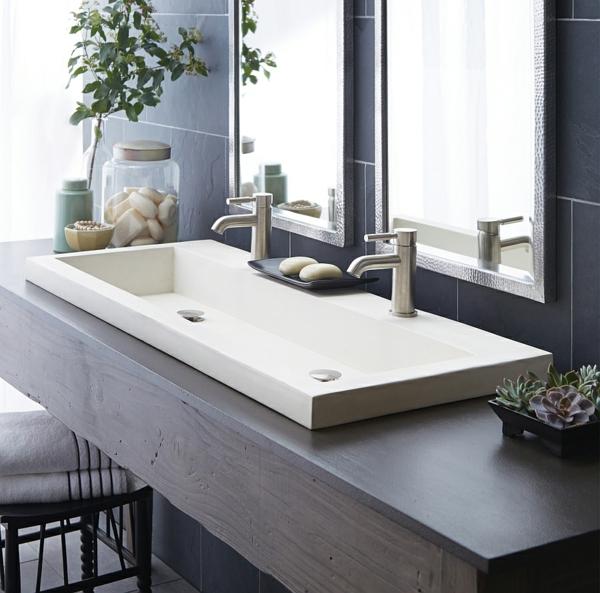 Moderne badezimmermöbel doppelwaschbecken  Moderne Waschbecken - per Hand gefertigt und umweltfreundlich