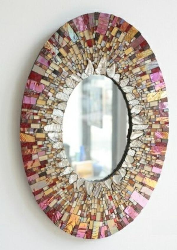 mosaik designer spiegel wandspiegel