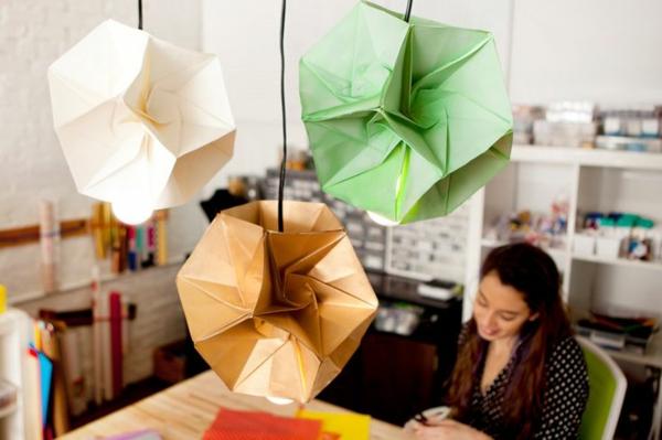 origami lampenschirme ideen DIY basteln