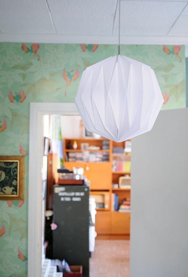 origami lampenschirme ideen DIY hängelampe