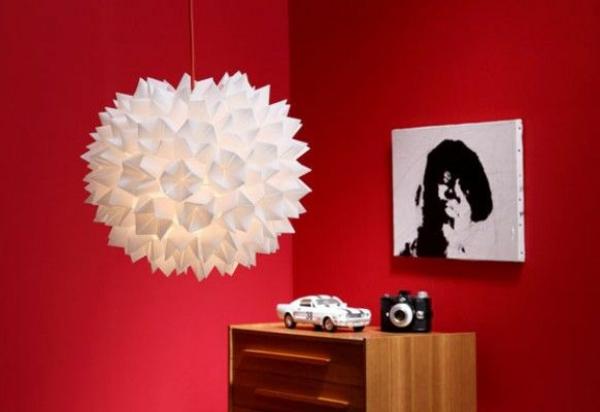 origami lampenschirme ideen DIY weiß kugel