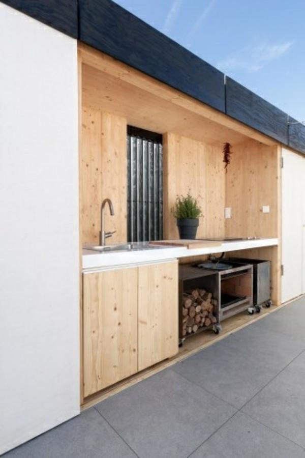 outdoor küchenmöbel garten eingebaut