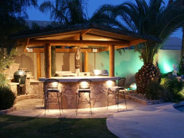 Gartenlaube Outdoor Küche : Outdoor küche mit naturstein verkleidung und edelstahl gartengrill