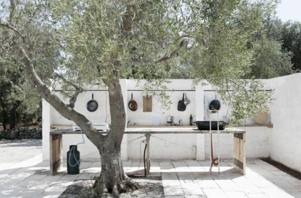 minimalistisch outdoor küchenmöbel garten geräte
