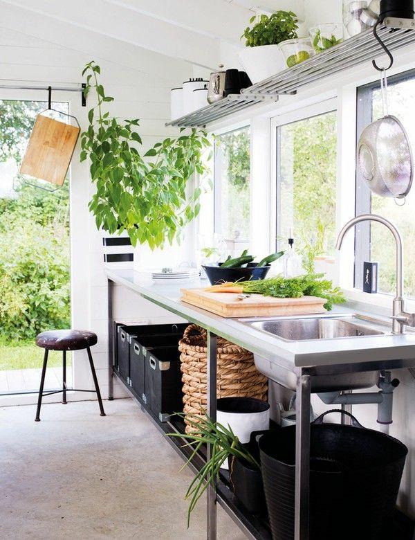 Outdoor k chenm bel funktionelle gartenk che einrichten - Outdoor kuchenmobel ...