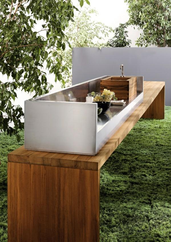 outdoor k chenm bel funktionelle gartenk che einrichten. Black Bedroom Furniture Sets. Home Design Ideas