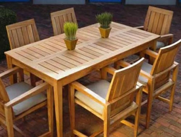 gastronomie outdoor möbel esstisch stühle holz