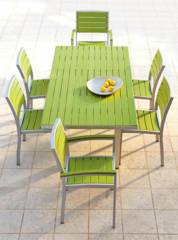 outdoor möbel gastronomie esstisch kunststoff rezykliert