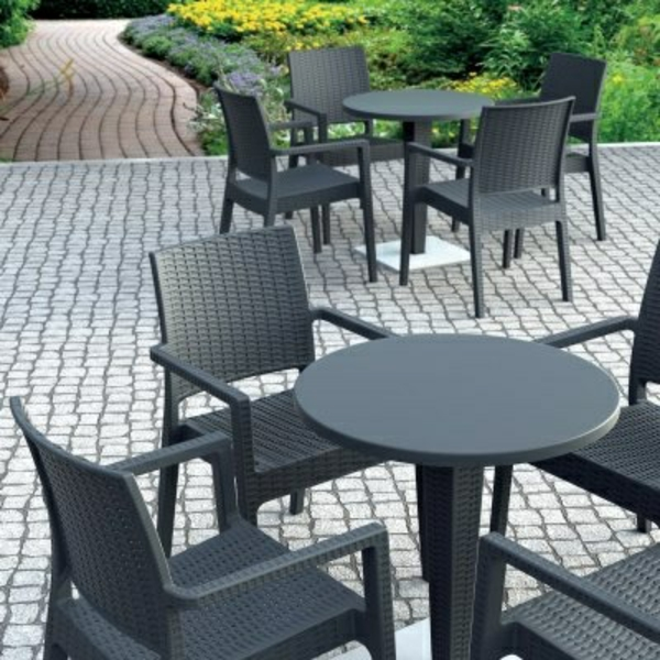 gastronomie outdoor möbel set esstisch stühle