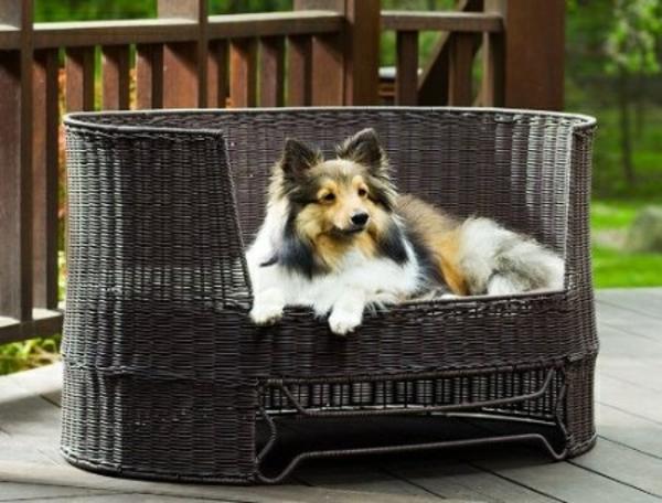 outdoor-rattanmöbel-lounge-bett-für-hunde