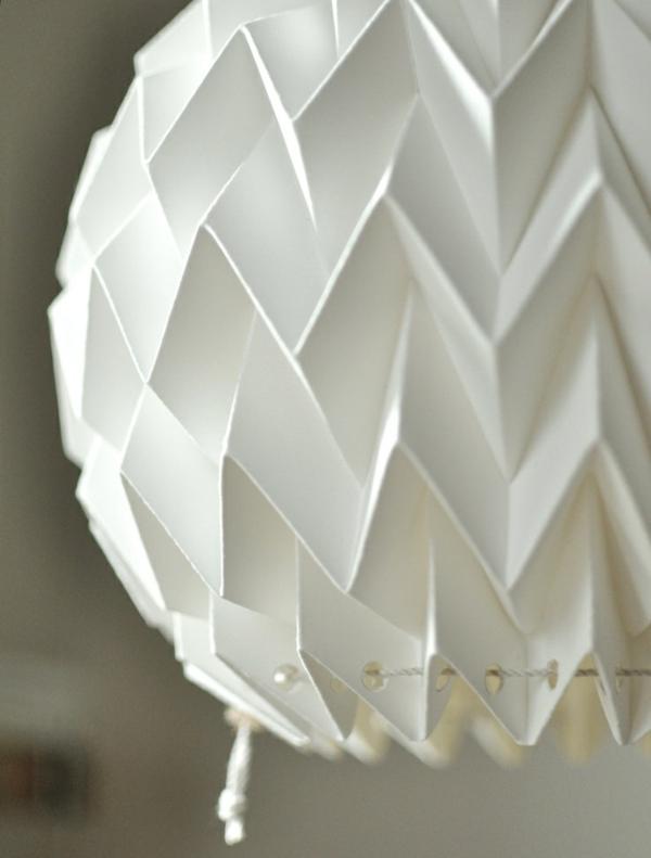 papierlampen origami pendelleuchte weiß