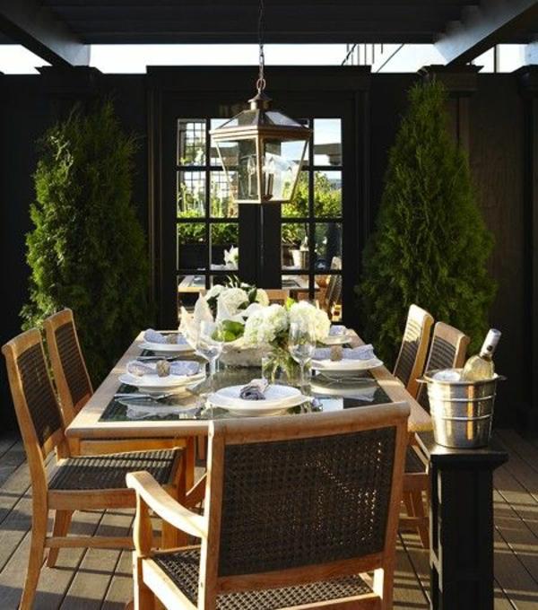 essraum outdoor möbel gastronomie rattan holz glas