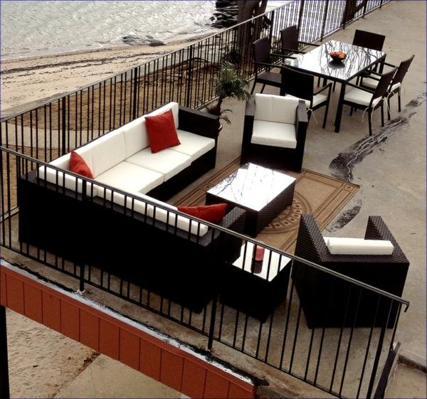 patio essraum outdoor möbel gastronomie rattan sitzecke