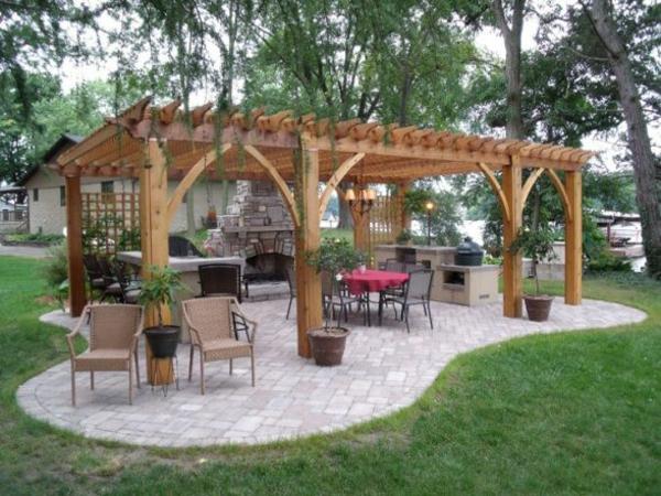 Holz Pergola Bauen Garten ? Bitmoon.info Vertikaler Garten Tropfchenbewasserung