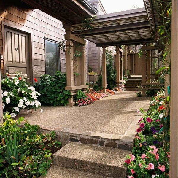 patio gartengestaltung ideen pergola selber bauen