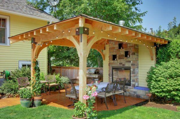 patio gartengestaltung ideen pergola