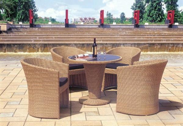 patio outdoor rattanmöbel sessel tisch
