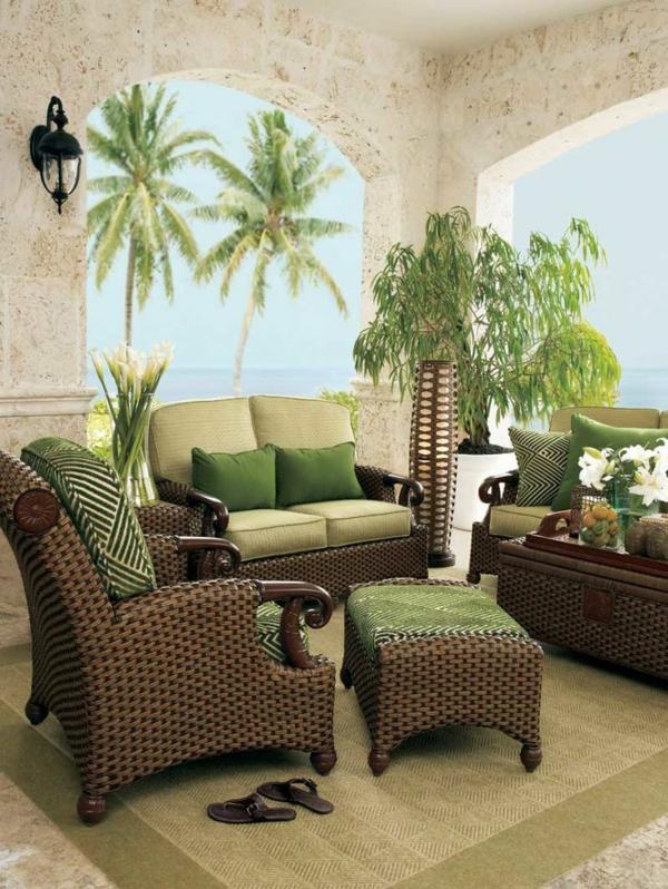 patio outdoor rattanmöbel sofa sessel hocker