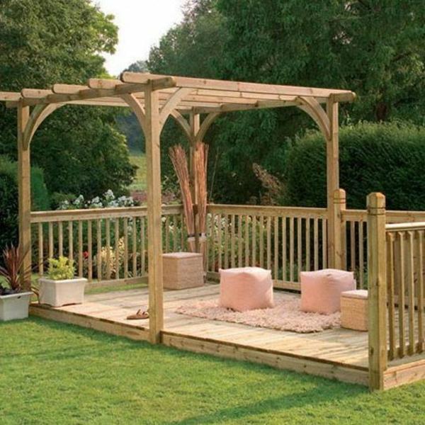 Garten designideen   pergola selber bauen