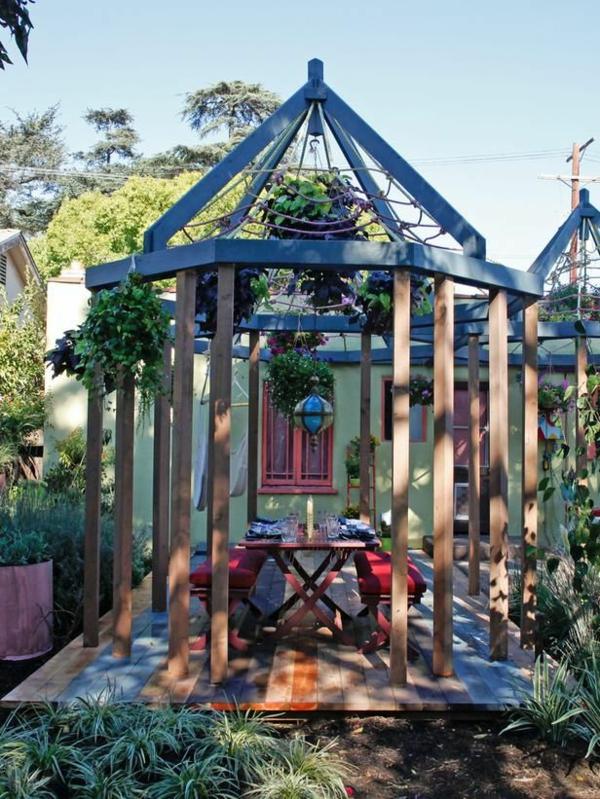 Garten Designideen - Pergola Selber Bauen Holz Pergola Vorhangen Ideen Garten