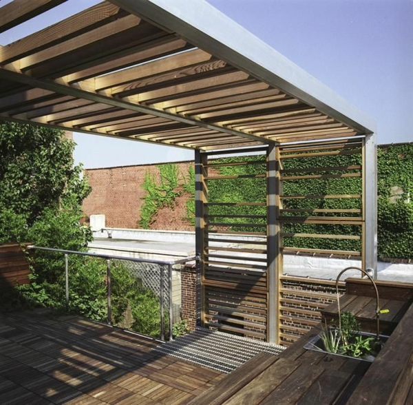 pergola design ideen mit dach
