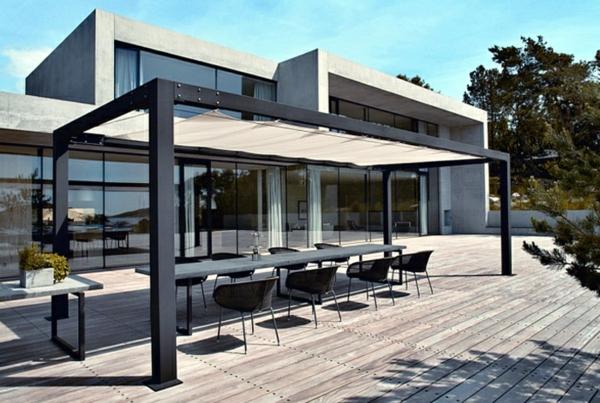 pergola aus metall 40 inspirierende beispiele und ideen. Black Bedroom Furniture Sets. Home Design Ideas