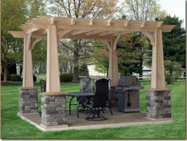 garten designideen pergola selber bauen. Black Bedroom Furniture Sets. Home Design Ideas