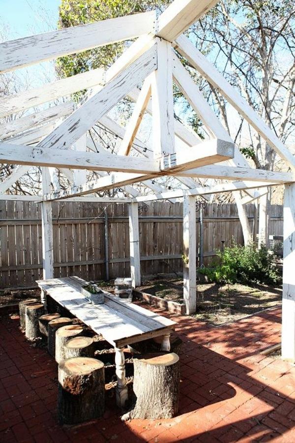 Garten designideen pergola selber bauen for Gartengestaltung joanna
