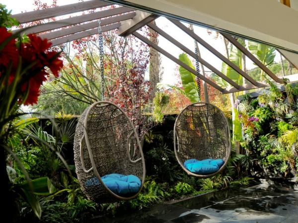 gartenlaube selber bauen hängestuhl schaukel