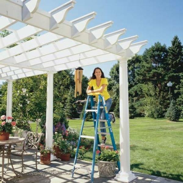 pergola selbst bauen anleitung patio