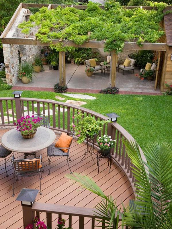 pergola selbst bauen garten ideen patio gartenmöbel