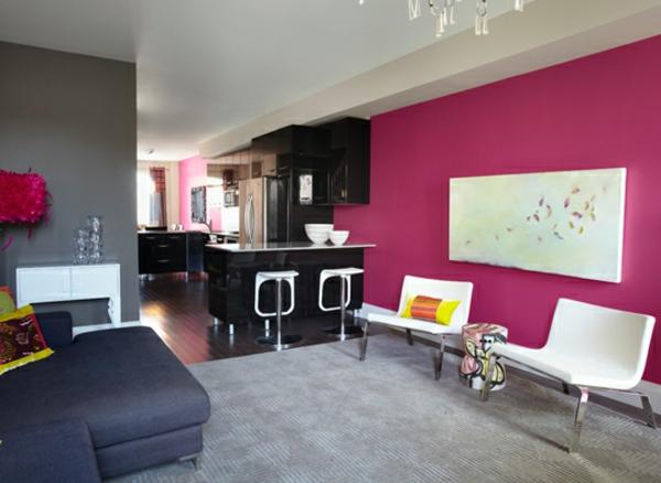 Pinke Wandfarbe - Würden Sie Gern Ihre Wände Pink Streichen? Farbige Wande Ideen