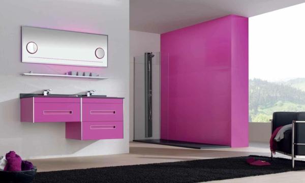 pinke wandfarbe ideen wangestaltung mit farbe akzentwand streichen