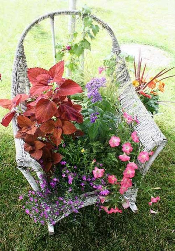 polyrattan blumentöpfe zimmerpflanzen gartenmöbel sessel blumen