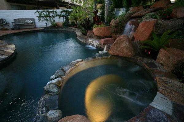 pool idee garten schwimmbecke stein