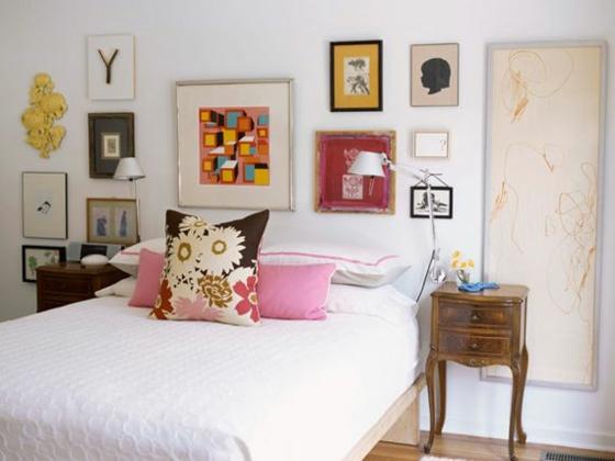 raumgestaltung farbe schlafzimmer möbel bett wandgestaltung