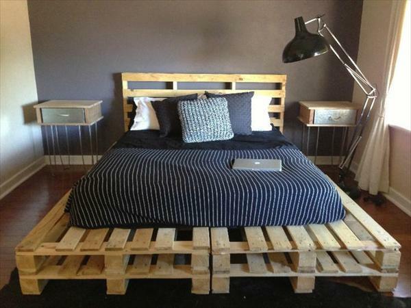 Europaletten Bett bauen - preisgünstige DIY-Möbel im ...