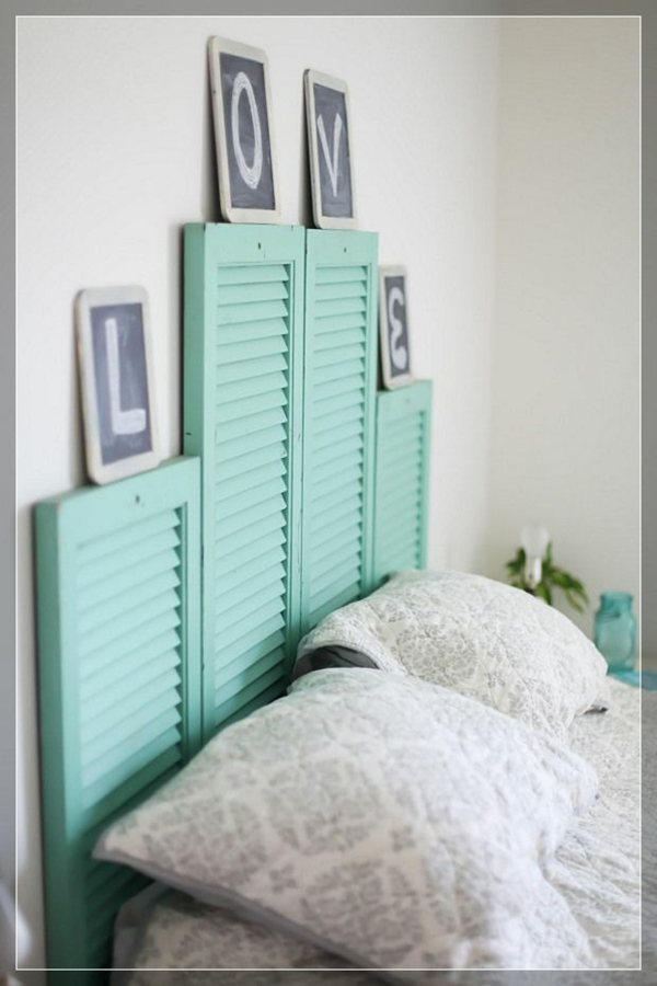 schlafzimmer designideen kopfteil jalousien