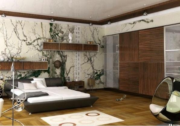 schlafzimmer design ideen braune möbel beleuchtung