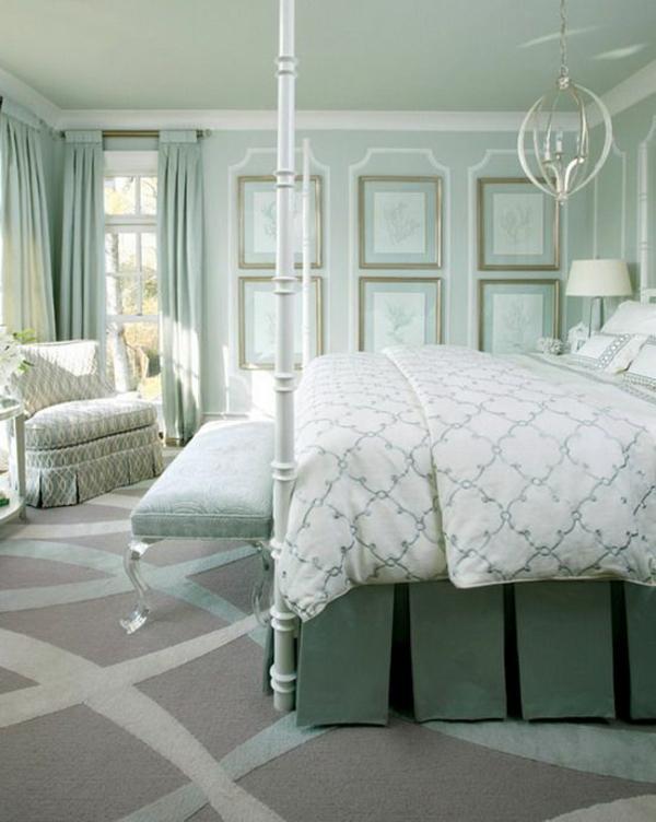 schlafzimmer designideen eklektisch himmelbett teppich