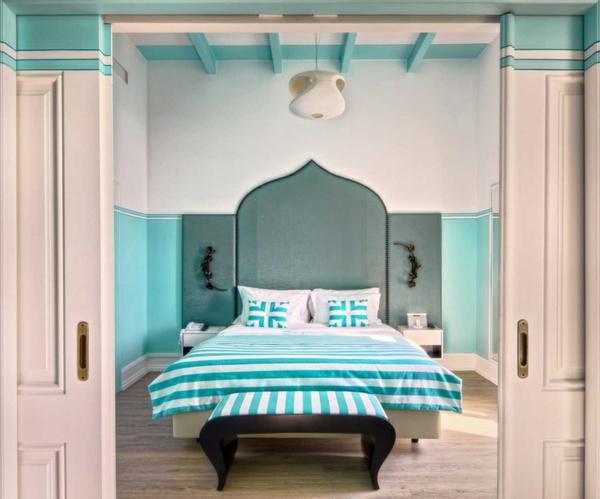 schlafzimmer designideen originell außerordentlich grün bett