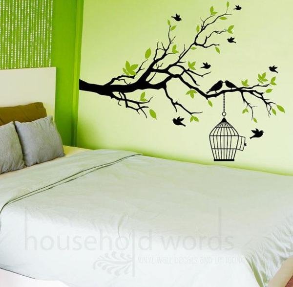Schlafzimmer Farben Gestalten Decorations In Spanish Wand: Schlafzimmerwand Gestalten