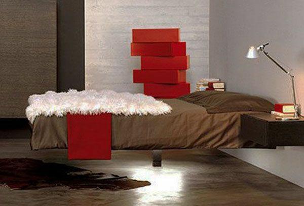schlafzimmer einrichtungsideen schwebebett dekoideen