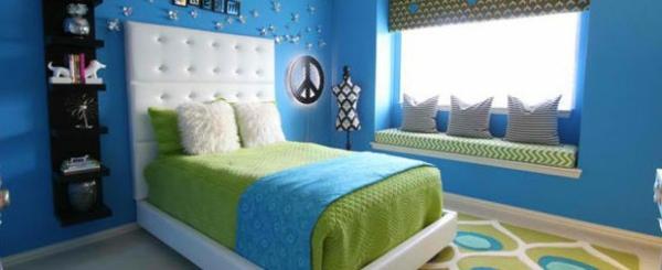 schlafzimmer farben ideen blau und grün