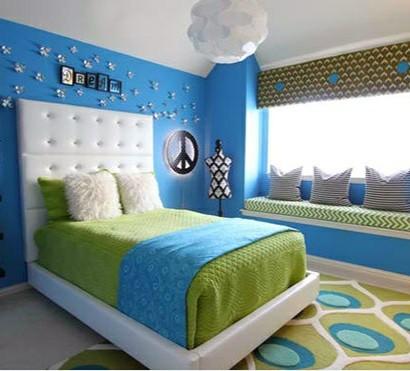 Schlafzimmer Farben Ideen U2013 Blau Und Leuchtendes Hellgrün
