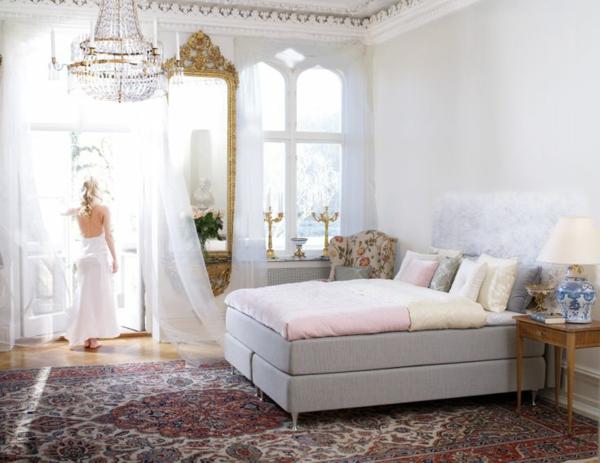Schlafzimmer Kommode Dekorieren: Led Deckenleuchte Rund ... Schlafzimmer Ideen Mit Boxspringbett