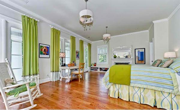 schlafzimmer gestalten farbideen blau und grün ruhig entspannend