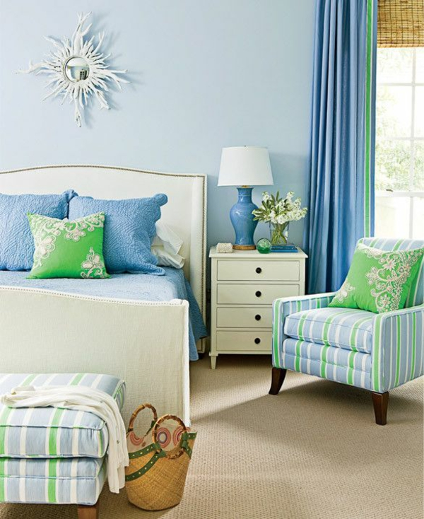 Schlafzimmer Blau: 20 Coole Schlafzimmer Ideen