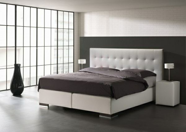 schlafzimmer möbel bett boxspringbett mit kopfteil