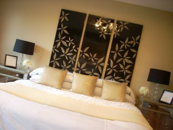 Schlafzimmerwand Gestalten - Kreative Dekoideen Schlafzimmer Deko Ideen Wand